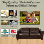Top Quality 'Photo to Canvas' Prints